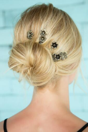 Antique Flower Bobby Pins
