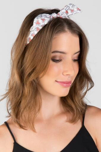 Cute Cats Fabric Headband with Bow