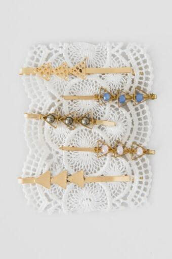 Beaded Arrows Bobby Pin Set