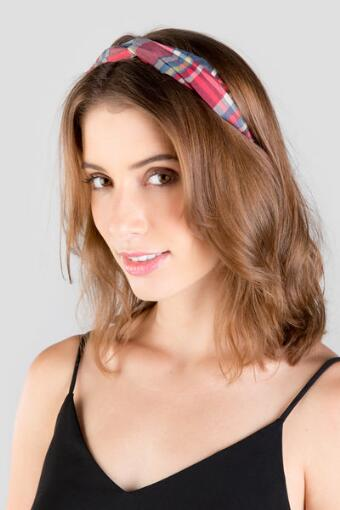 Red Plaid Headband