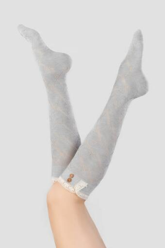 Lace Pointelle Over the Knee Socks