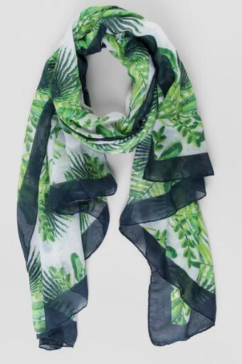 Fronds Oblong Scarf