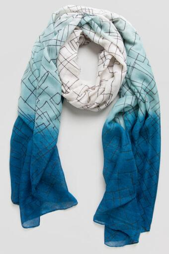 Abstract Ombre Oblong Scarf