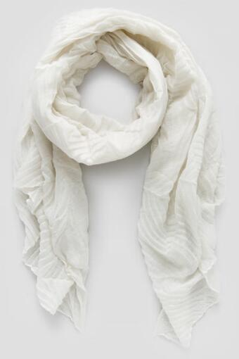 Hope Crinkle Scarf in White