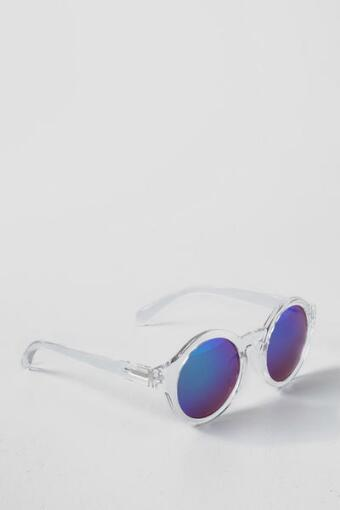 Phoenix Round Sunglasses in Blue