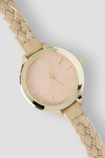 Fiona Braided Watch in Tan