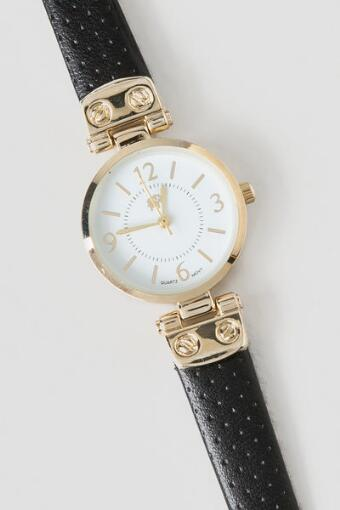 Olivia Hinge Watch in Black