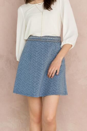 Corynn Embellished Quilted Skirt