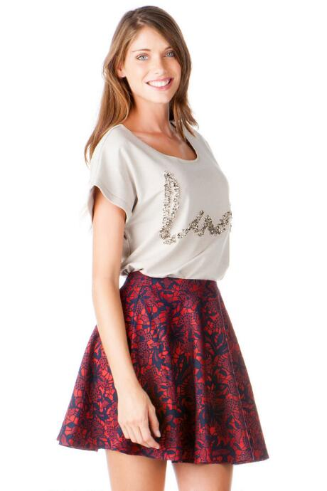 Red Bluff Floral Skirt
