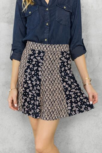 Clyde Printed Skirt