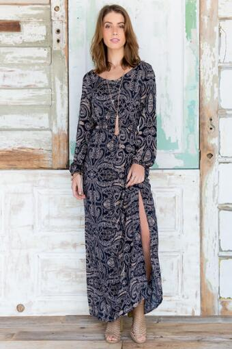 Greta Paisley Maxi Dress