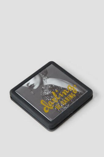 Gold and Black Darling Be Daring Compact Mirror