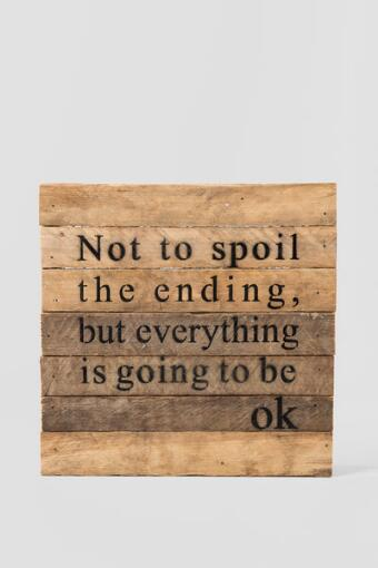Going to Be Ok Wood Wall Decor