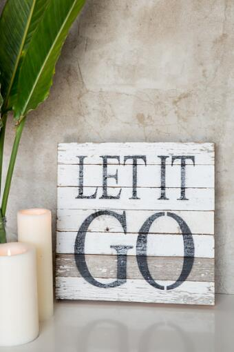 Let It Go Wood Wall Decor
