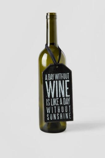 A Day Without Wine Bottle Tag