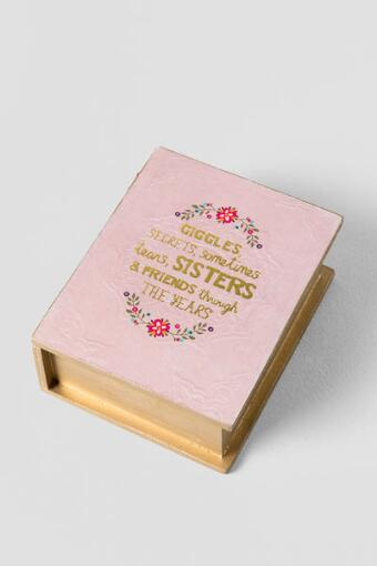 Pink and Gold Sisters Through The Years Book Box