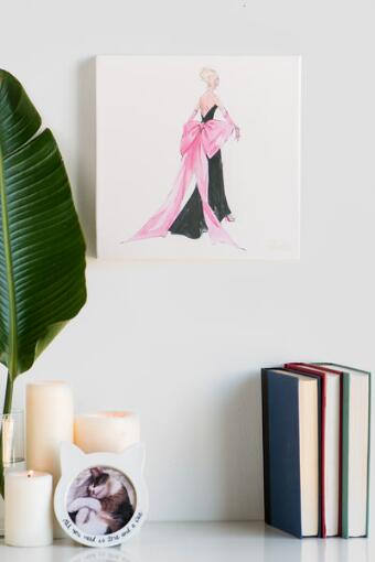 Barbie Pink Bow Canvas Wall Art