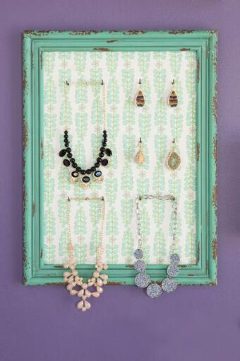 Vintage Wall Jewelry Holder