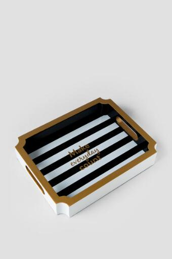 Make Everyday Count Black and Gold Tray