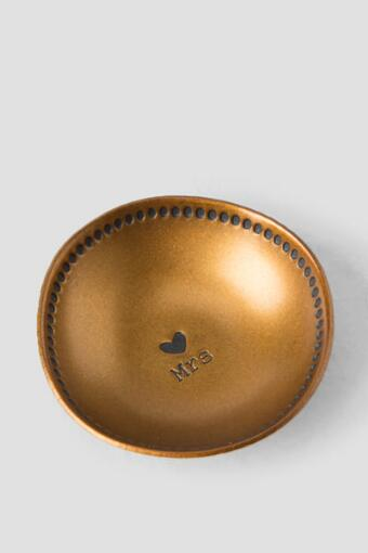 Mrs. Small Brass Trinket Bowl