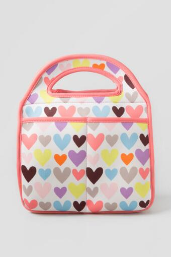 Mod Heart Lunch Tote