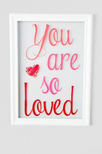 You Are So Loved Glass Wall Decor