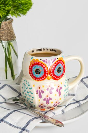 Be Awesome Owl Ceramic Mug