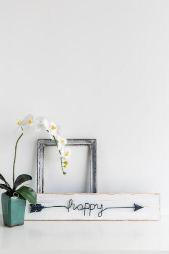 Happy Arrow Wood Wall Decor