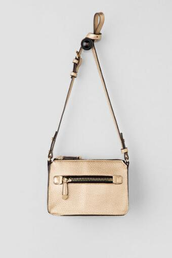 Paige Metallic Gold Crossbody Bag