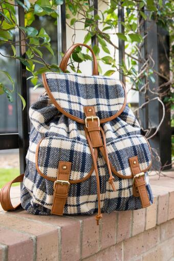 Dartmouth Plaid Backpack
