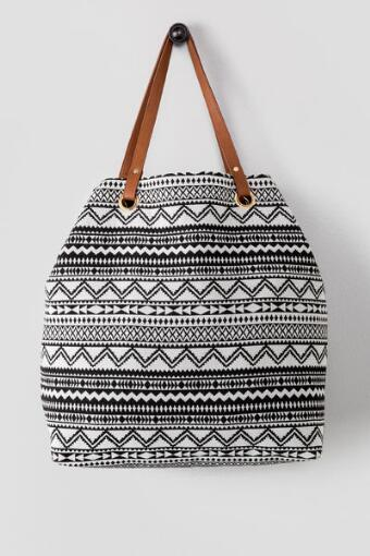 Reversible Aztec Tote Bag