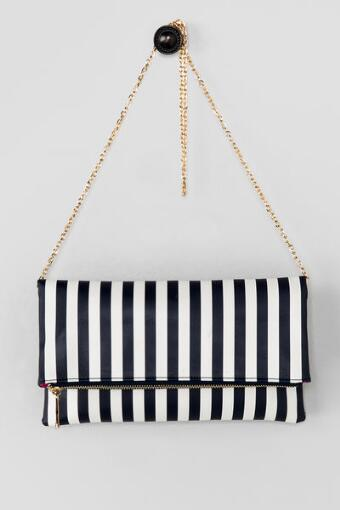 Ana Stripe Clutch