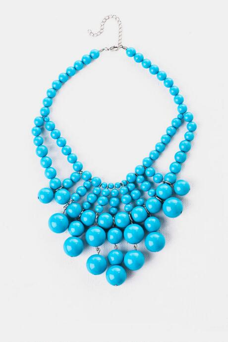 Bloomsbury Beaded Necklace in Turquoise