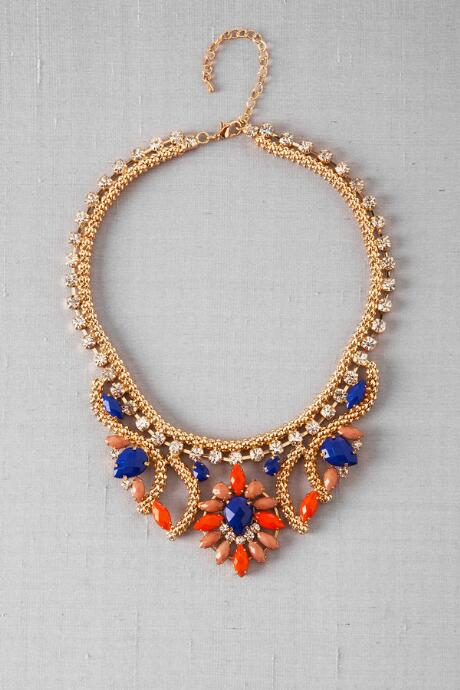 Principe Statement Necklace in Cobalt