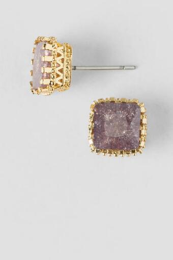 Jacey Square Stone Stud Earrings