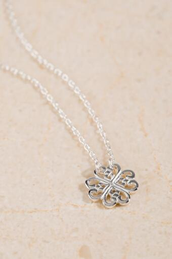 Sterling Silver Clover Pendant Necklace