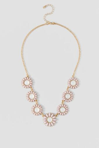 Ashbury Park Floral Statement Necklace in Ivory