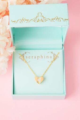Seraphina Crystal Heart Delicate Necklace