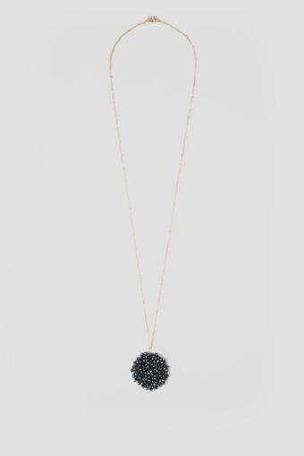 Innis Bead Woven Circle Pendant Necklace