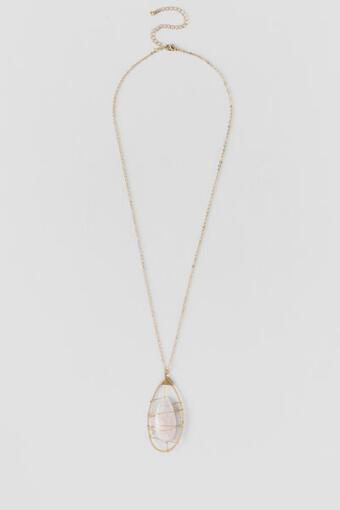 Lorna Wrapped Stone Pendant Necklace