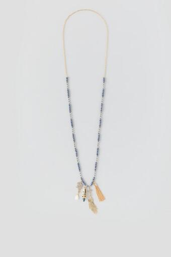 Caldwell Beaded Pendant Necklace