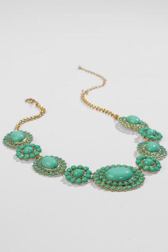 Caney Statement Necklace in Mint