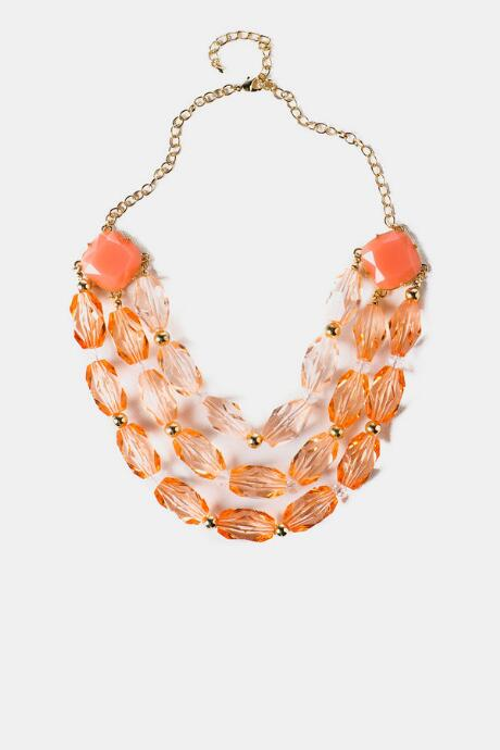 Key West Stone Necklace in Peach