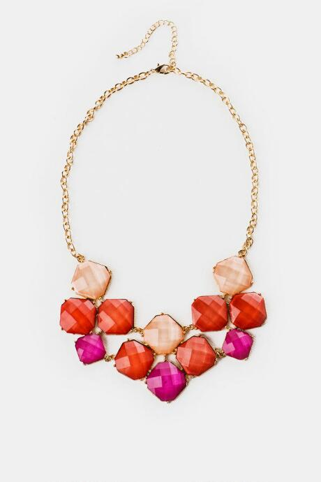 Paros Island Necklace in Pink