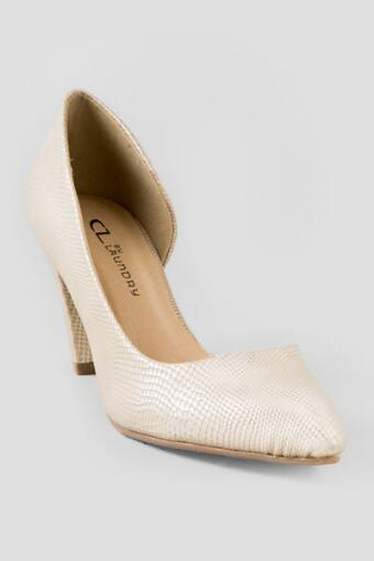 Chinese Laundry Shoes, Angelina Snakeskin D'Orsay Pump in Gold