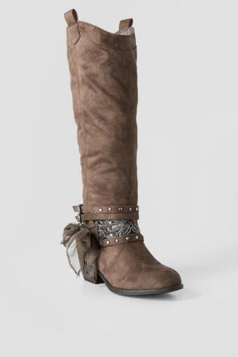Mumford Embellished Knee High Boot