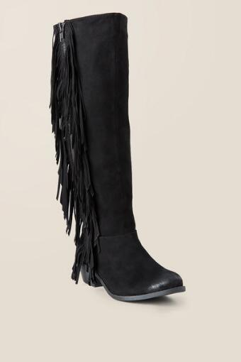 Tiberius Fringe Knee High Boot