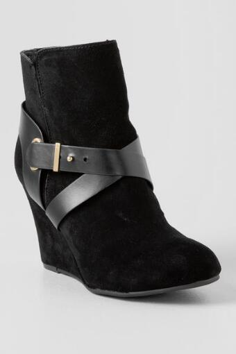 Chinese Laundry, Ultimate Suede Wedge Bootie