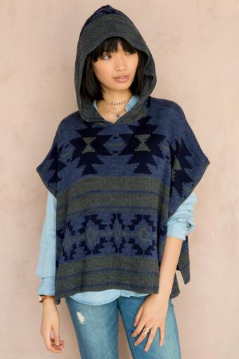 Roswell Poncho Sweater