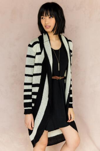 Quinn Striped Cocoon Sweater Wrap
